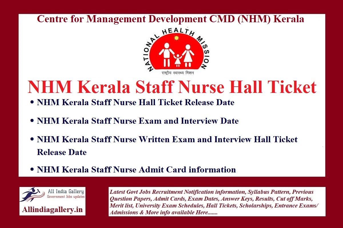 NHM Kerala Staff Nurse Interview Dates