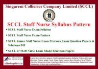 SCCL Staff Nurse Syllabus Pattern