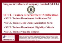 SCCL Trainee Recruitment Notification
