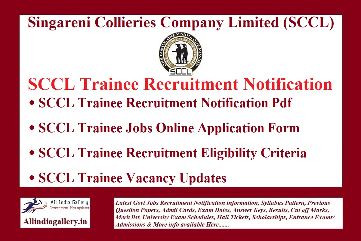 SCCL Trainee Recruitment Notification