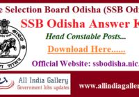 SSB Odisha Head Constable Answer Key