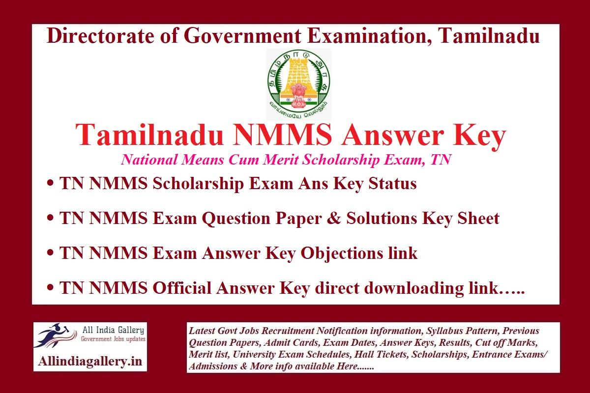 TN NMMS Answer Key