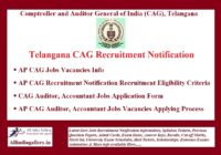 TS CAG Recruitment Notification