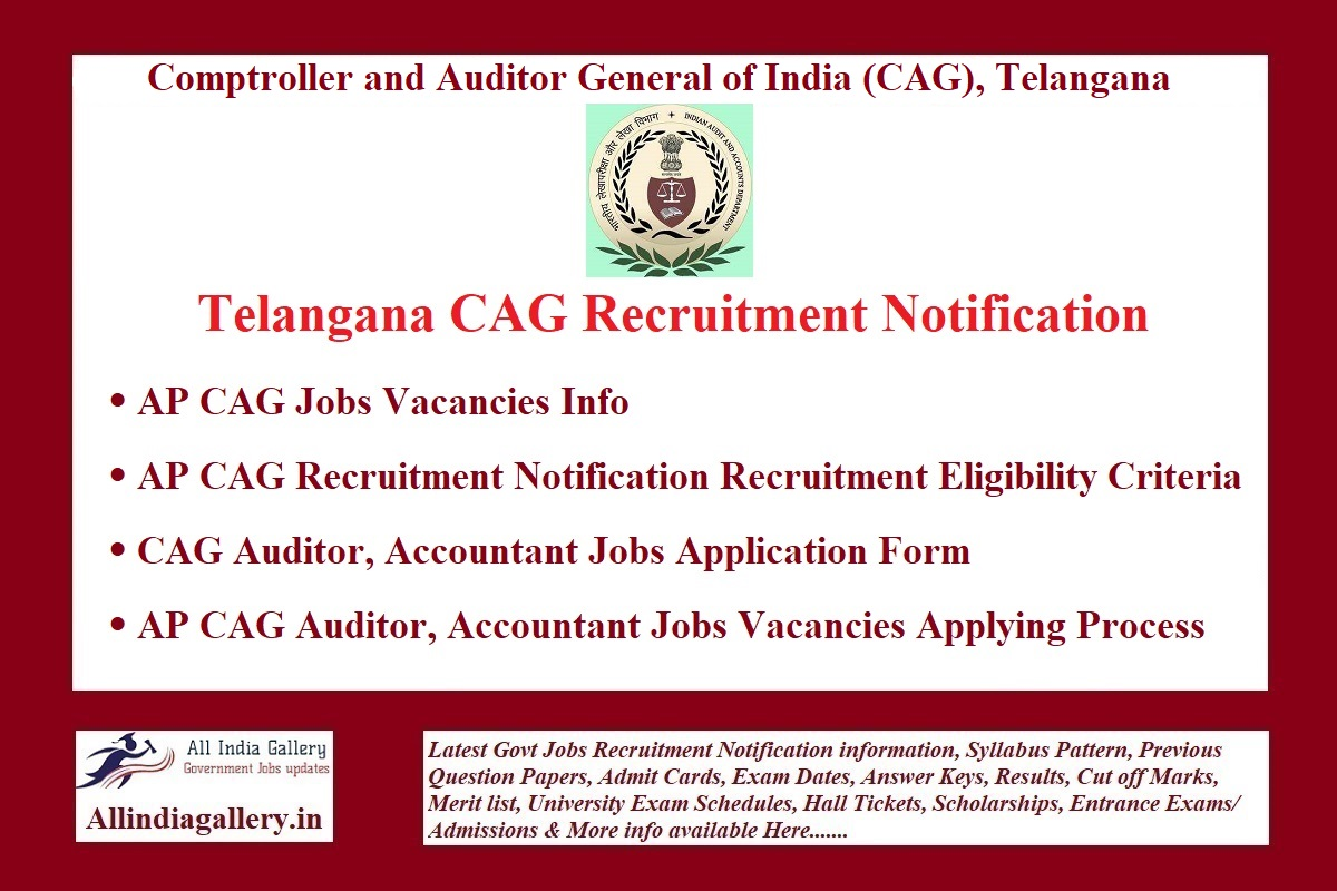 TS CAG Recruitment Notification