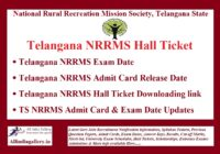 TS NRRMS Hall Ticket
