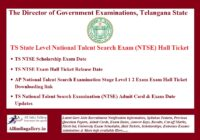 TS NTSE Hall Ticket