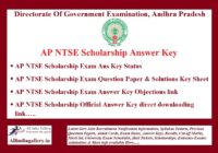 AP NTSE Answer Key