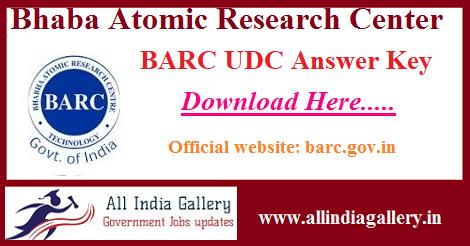 BARC UDC Answer Key
