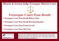 Ferozepur Court Peon Result