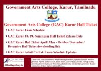 GAC Karur Hall Ticket