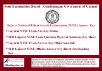 Gujarat NTSE Answer Key