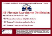 HP Firemen Recruitment