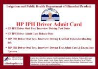 HP IPH Driver Admit Card