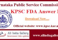 KPSC FDA Answer Key