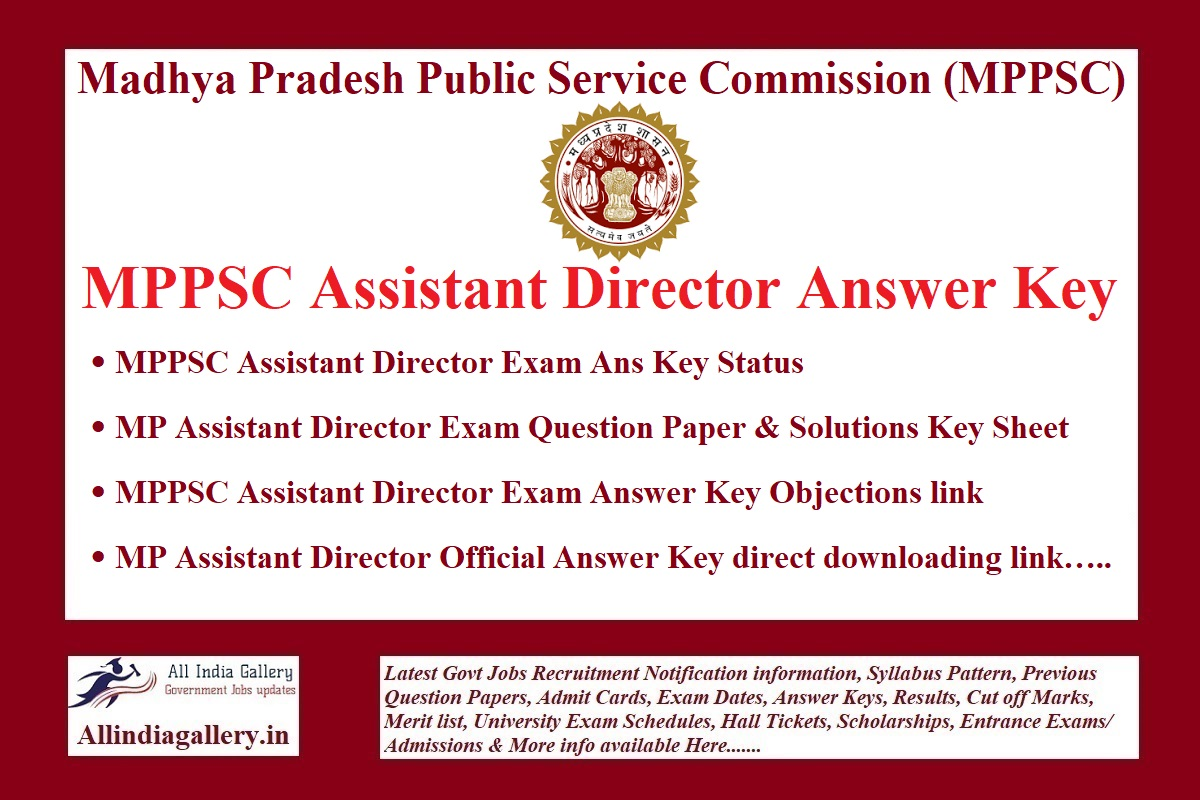 MPPSC Assistant Director Answer Key