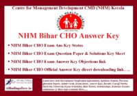 NHM Bihar CHO Answer Key