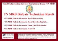 TN MRB Dialysis Technician Result