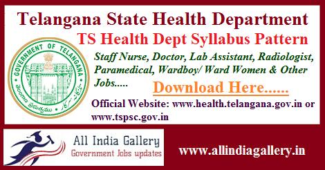 TS Health Department Syllabus