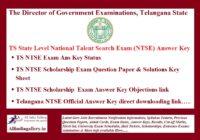 TS NTSE Answer Key