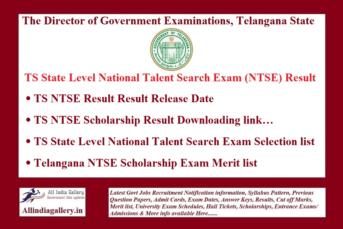 TS NTSE Result