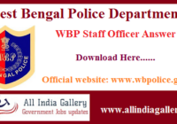 WBP Staff Officer Answer Key