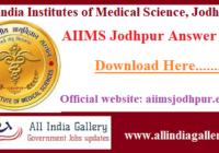 AIIMS Jodhpur Answer Key