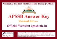 APSSB LDC JSA Answer Key