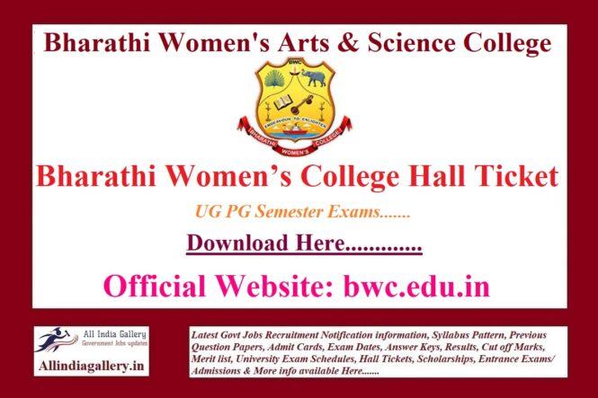 Bharathi Women's College Hall Ticket