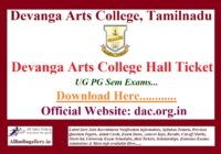 Devanga Arts College Hall Ticket