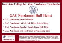 GAC Nandanam Hall Ticket