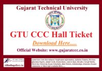GTU CCC Hall Ticket