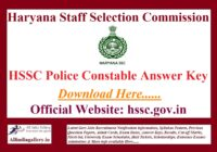 HSSC Police Constable Answer Key
