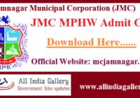 JMC MPHW Admit Card