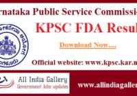 KPSC FDA Result