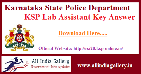 KSP Lab Assistant Key Answer