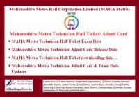 MAHA Metro Technician Hall Ticket