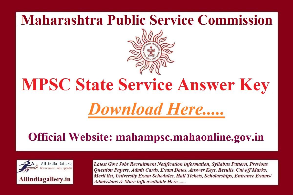 MPSC SSE Answer Key