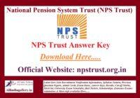 NPS Trust Answer Key