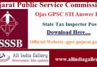 Ojas GPSC STI Answer Key