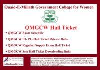 QMGCW Hall Ticket