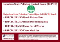 RSPCB JEE JSO Result