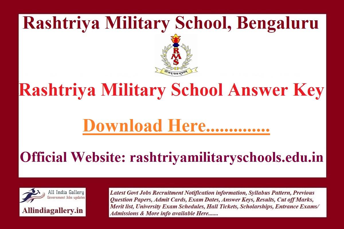 Rashtriya Military School Answer Key
