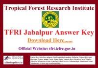 TFRI Answer Key