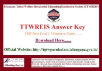 TTWREIS Answer Key