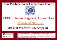 UPPCL JE Answer Key