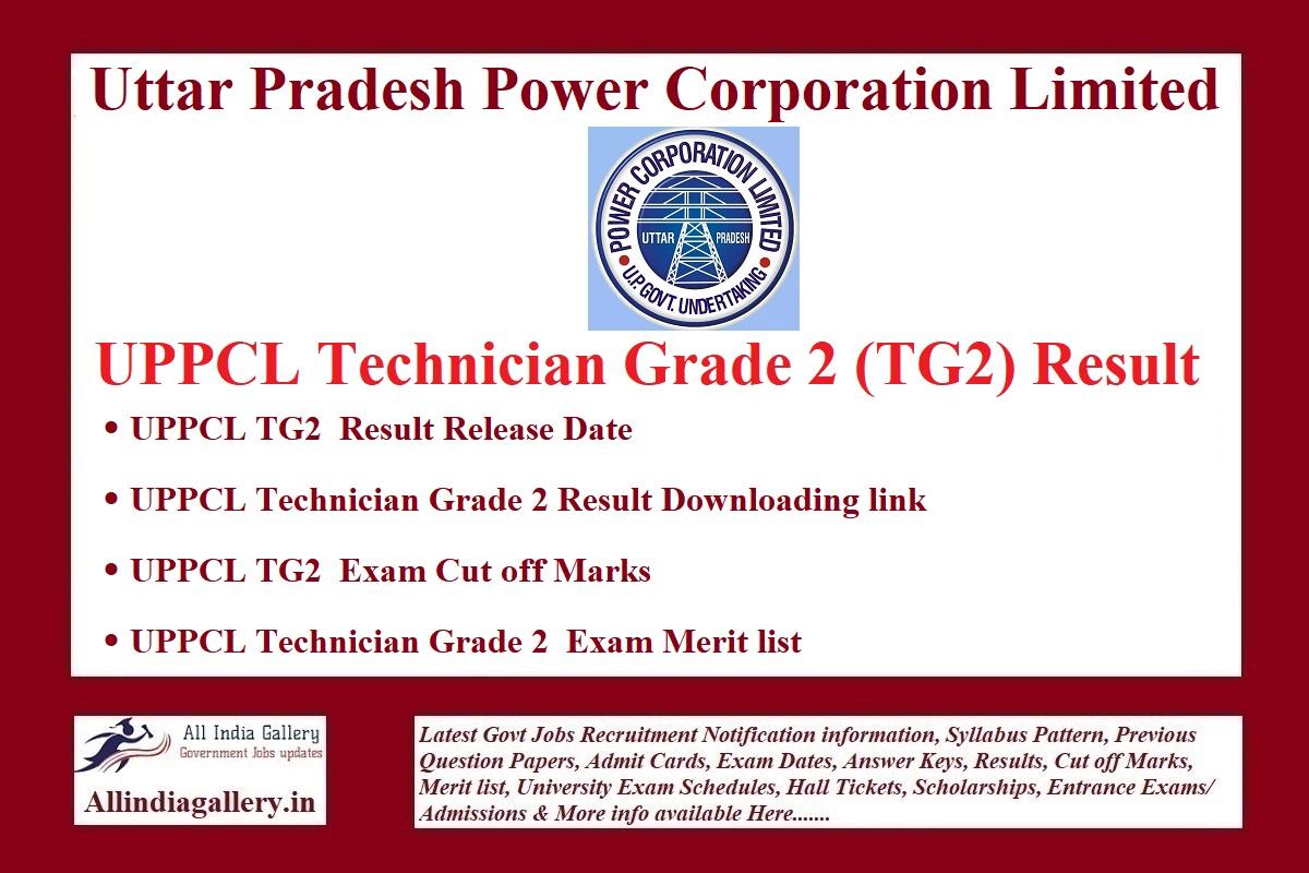 UPPCL TG2 Result