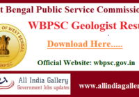 WBPSC Geologist Result