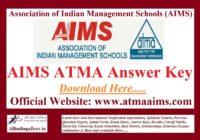 AIMS ATMA Answer Key