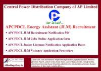 APCPDCL JLM Recruitment Notification