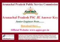 Arunachal Pradesh PSC JE Answer Key